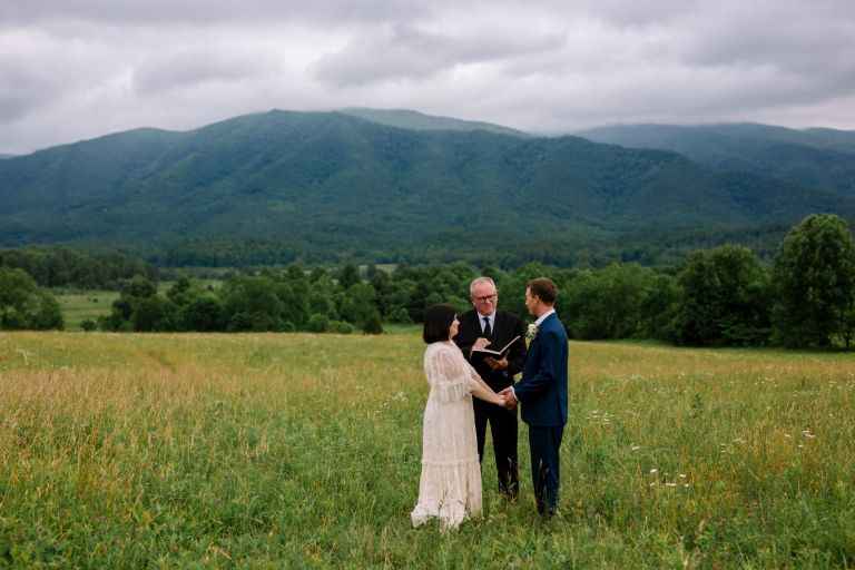 Wildlife Overlook Elopement in Cades Cove